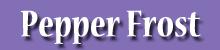 Pepper Frost Logo